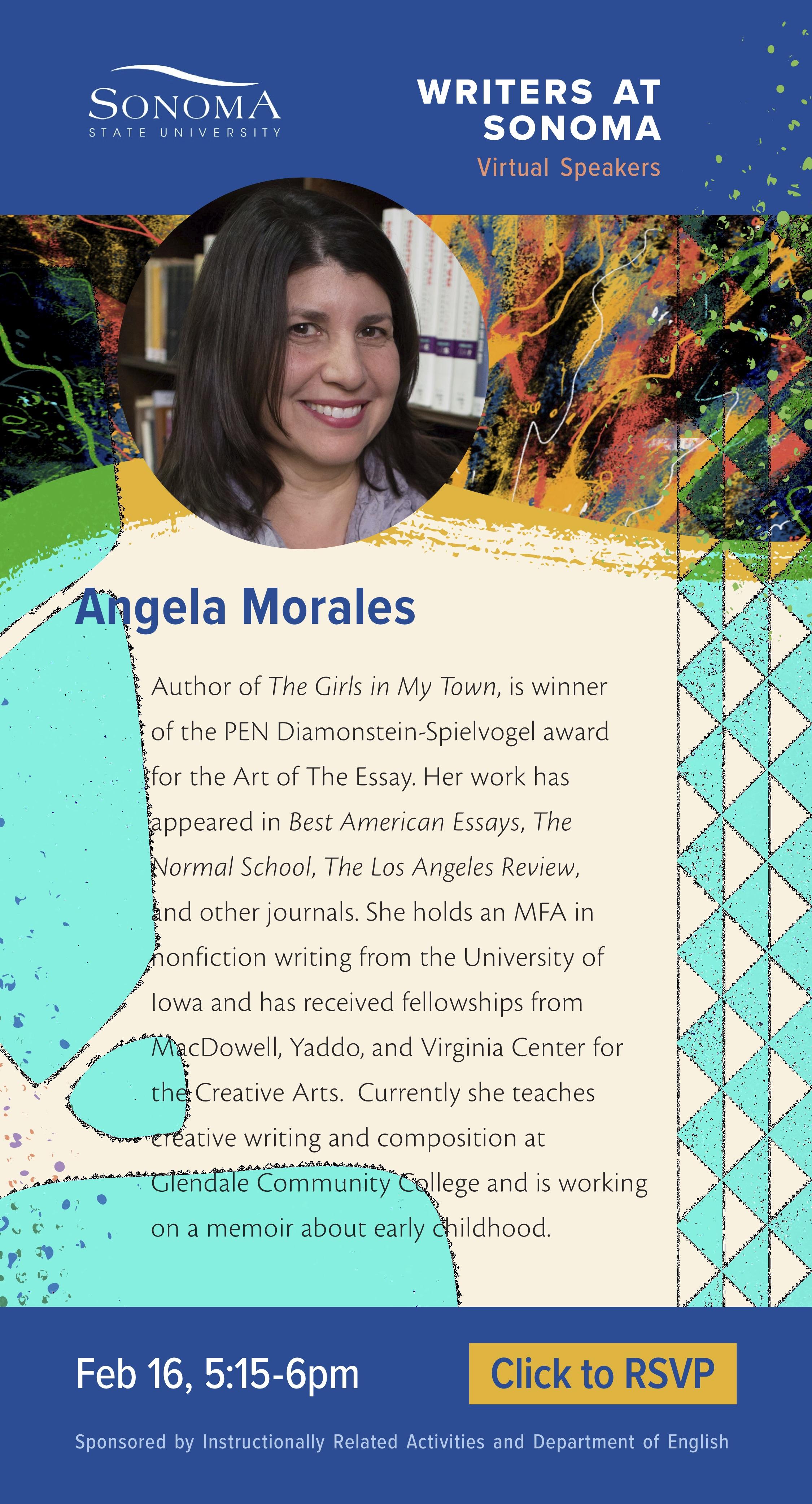 Angela Morales Writers at Sonoma Virtual Speaker