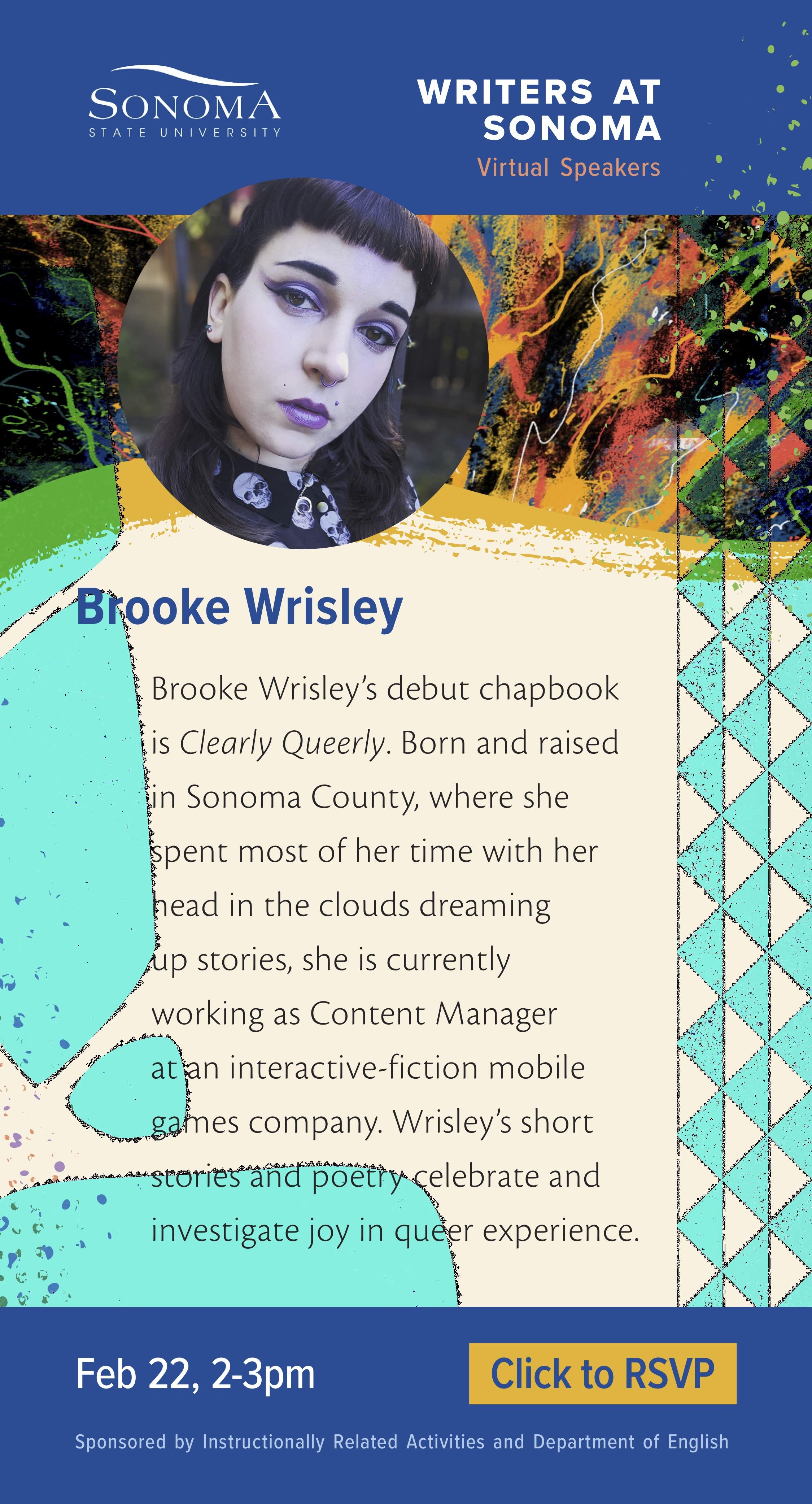 Brooke Wrisley Writers at Sonoma Virtual Speaker