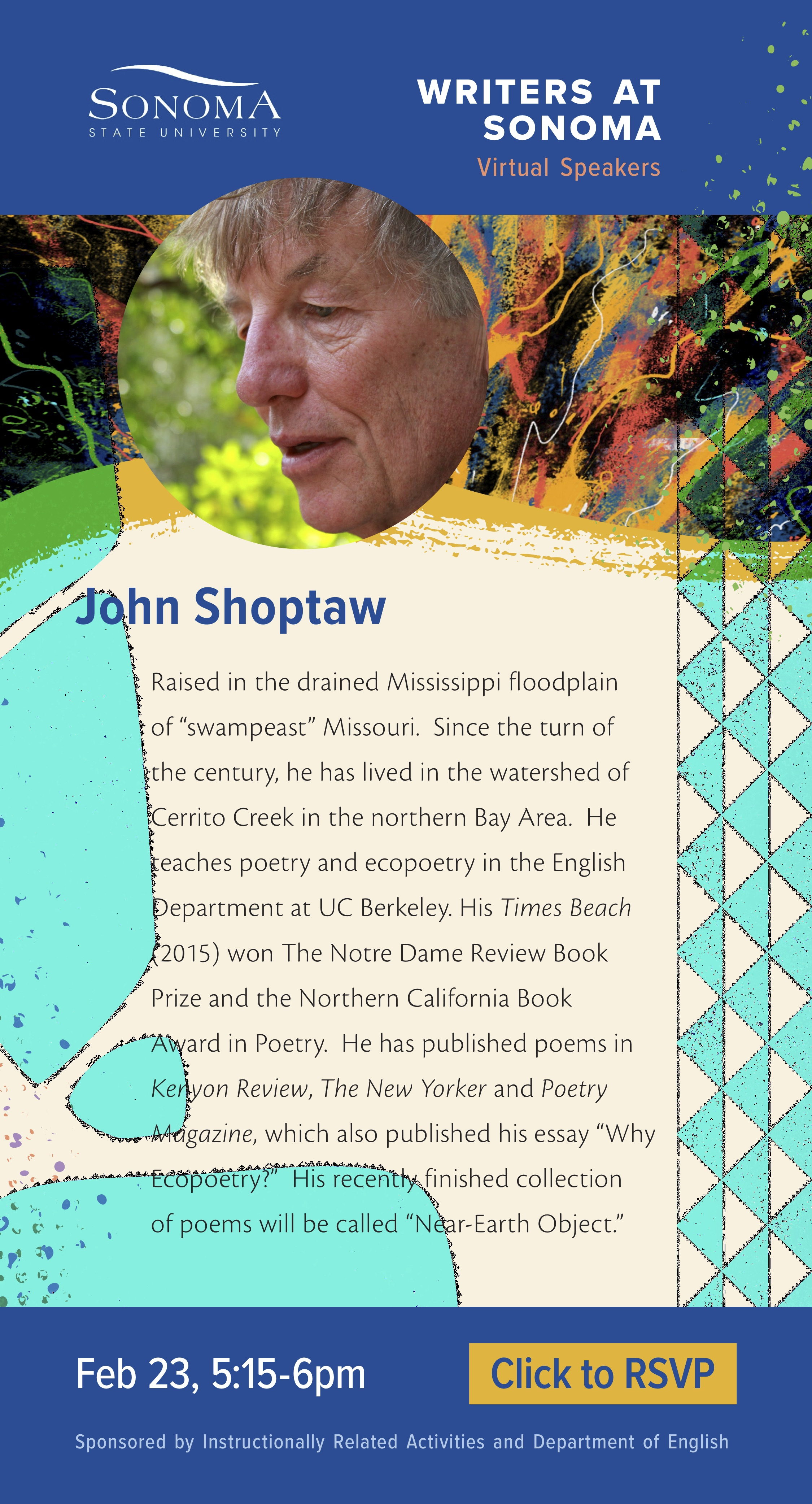 John Shoptaw Writers at Sonoma Virtual Speaker