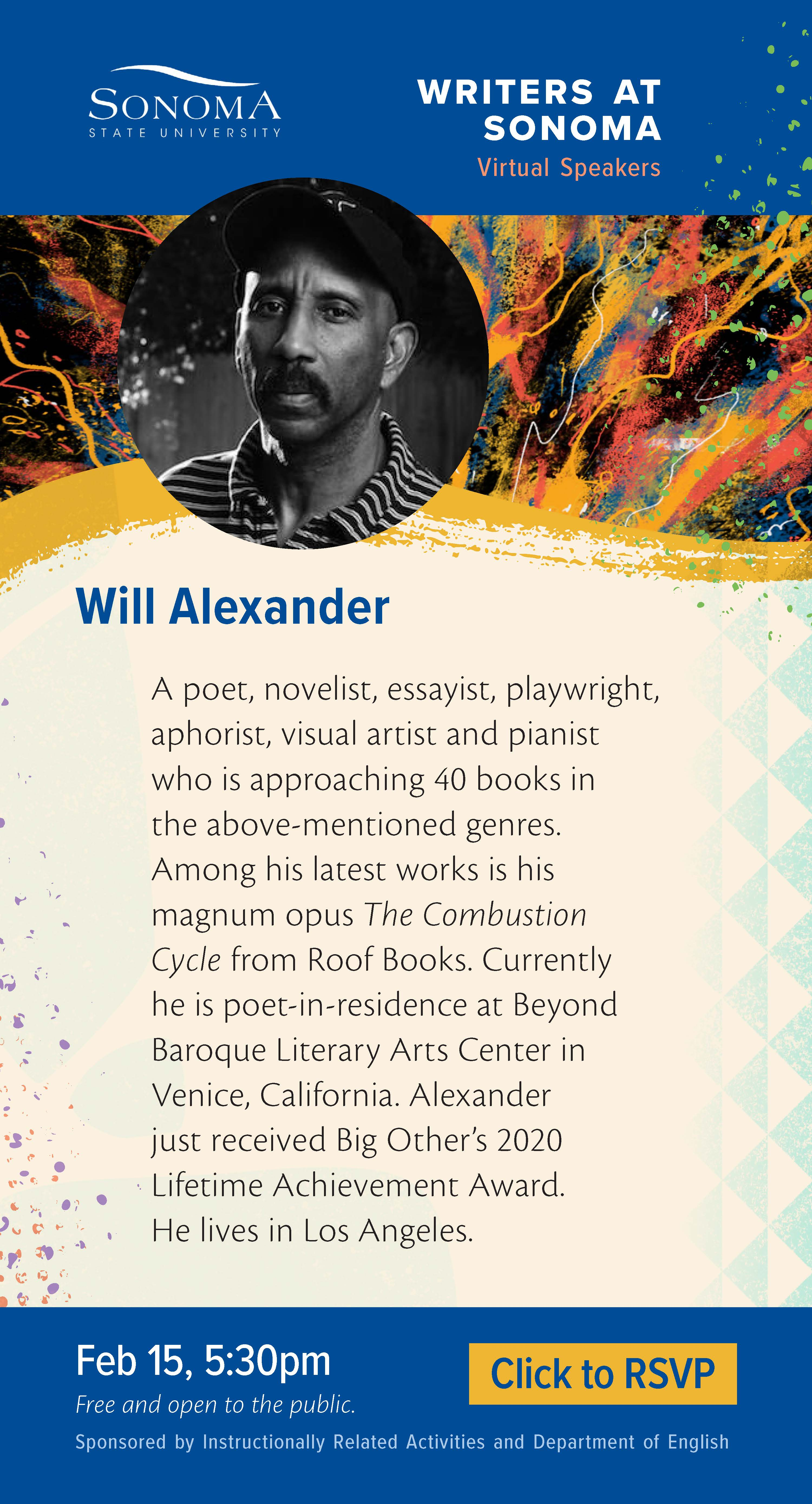 Will Alexander Writers at Sonoma